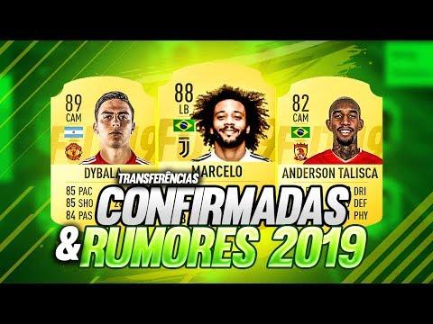 Transferências CONFIRMADAS e RUMORES 2019 l Benfica vende TALISCA, MARCELO na Juve e MUITO MAIS !