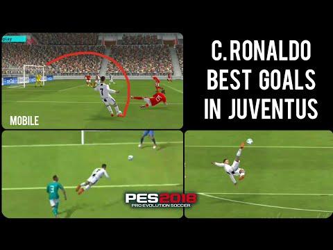 C.RONALDO Magic in Juventus – Amazing skills & goals in PES 2018 Mobile