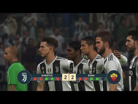 JUVENTUS vs AS ROMA I Serie A I PES 2019 Penalty Shootout