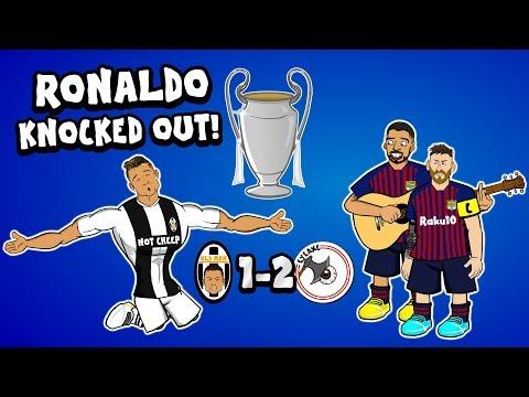 😊RONALDO OUT!😊 (Juve vs Ajax & Barca vs Man Utd Parody Goals Highlights Champions League 2019)