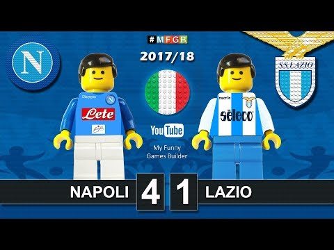 Napoli Lazio 4-1 • Serie A (10/02/2018) goal highlights sintesi Lego Calcio 2017/18