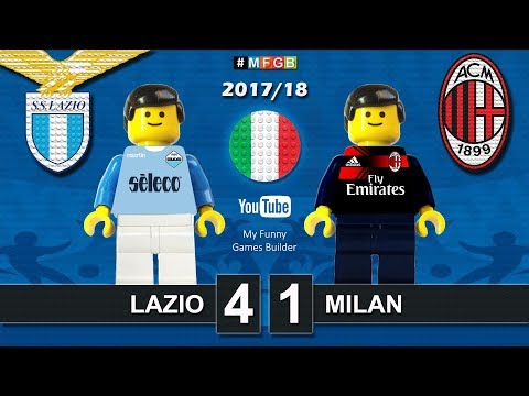 Lazio Milan 4-1 • Serie A (10/09/2017) goal highlights sintesi  Lego Calcio 2017/18