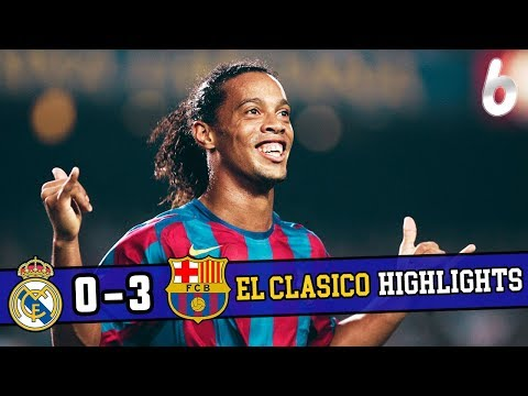 Real Madrid vs Barcelona All Goals & Extended Highlights – 19/11/2005 [El clasico]