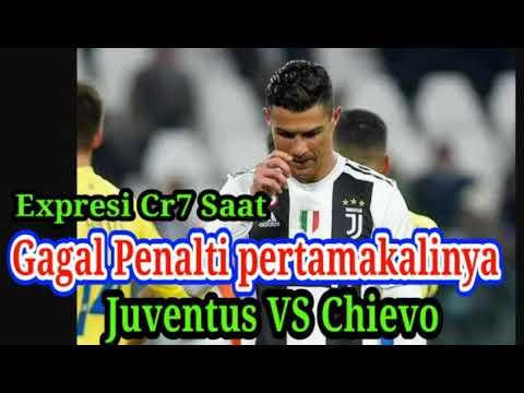 Detik-detik kegagalan penalti Cristiano Ronaldo saat juventus vs Chievo | beberapa cuplikan penalti