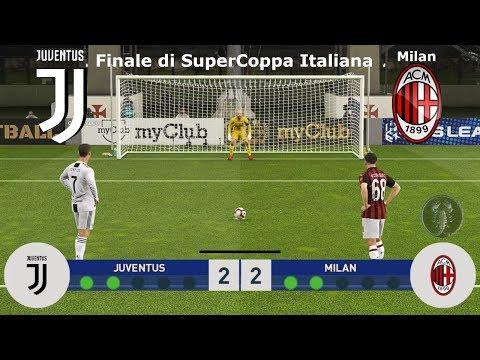 Juventus Vs Milan – Finale di SuperCoppa Italiana (Calci di Rigore) | PES 2019 Patch [Giù]