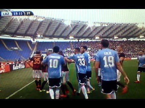 Roma Lazio 2 0 – Radu lite con Florenzi