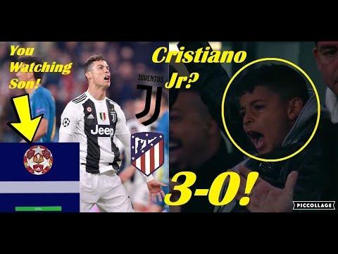 Players Reaction To Juventus vs Atletico Madrid 3-0 2019 Ft. Cristiano Ronaldo, Cristiano Jr
