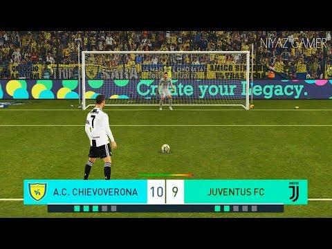 CHIEVO vs JUVENTUS FC | Penalty Shootout | C.Ronaldo debut | PES 2018 Gameplay PC
