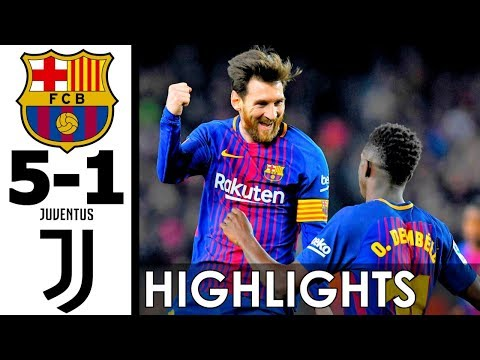 FC Barcelona vs Juventus 5-1 All Goals and Highlights w/ English Commentary (2017) HD 720p