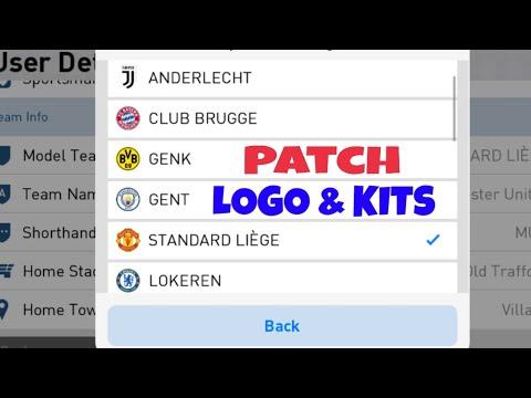 PES 19 mobile Patch 3.1.3 Juventus,Manchester,real madrid logo & kit