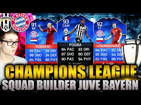 FIFA 16: CHAMPIONS LEAGUE SQUAD BUILDER (DEUTSCH) – FIFA 16 ULTIMATE TEAM – JUVE VS BAYERN!!