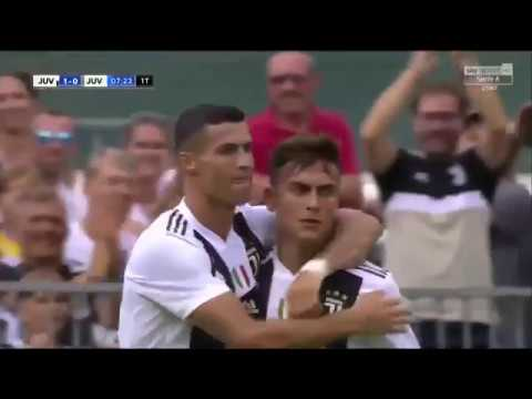 Cristiano Ronaldo scores on his Juventus debut