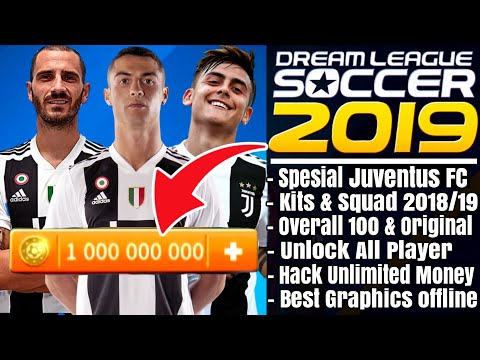 Download Dream League Soccer 2019 Mod Juventus | Overall 100 Unlock All Player Hack Unlimited Money
