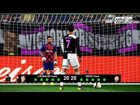 PES 2019 | Team C.RONALDO vs Team L.MESSI | Penalty Shootout | Juventus vs Barcelona NEW KITS 2020