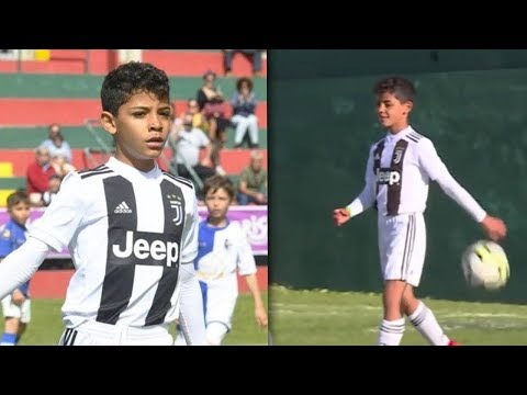Cristiano Ronaldo's son scored 7 goals before half-time for Juventus youth team in Madeira.