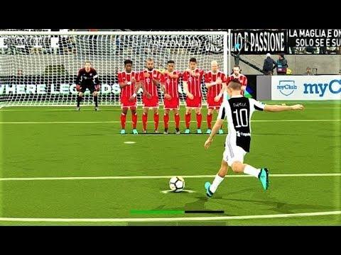 Free Kick Goal P. Dybala | Juventus vs Bayern Munchen 2018 | PES 2018 Gameplay HD