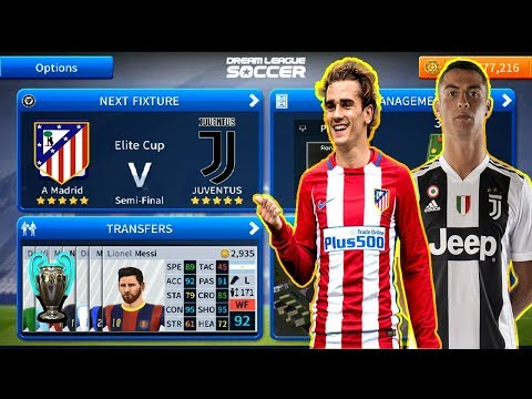 Atletico Madrid Vs Juventus | Ronaldo Vs Griezmann | Dream League Soccer 2019 Gameplay