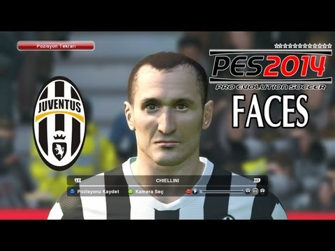 Pro Evolution Soccer 2014 (PES 2014) – Juventus Player Faces