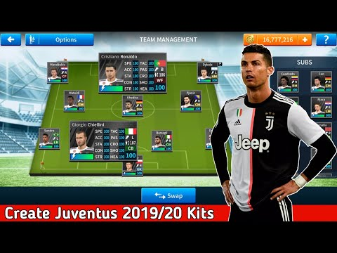 How To Import Juventus 2019/20 Kits Team & Logo In Dream League Soccer 🌠 4K