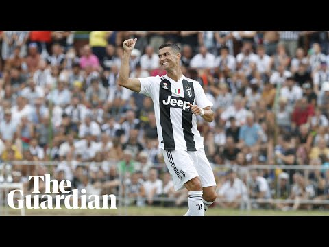 Cristiano Ronaldo scores on Juventus debut amid pitch invaders' welcome