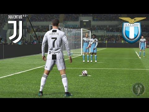 """Lazio Vs Juventus 21°Giornta """"CR7: Punizione Micidiale""""   PES 2019 Patch [Giù]"""