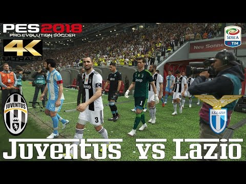 PES 2018 (PC) Juventus v Lazio | SERIE A PREDICTION | 25/8/2018  |4K 60FPS