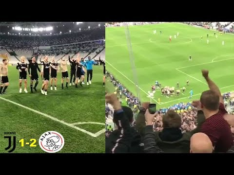 Ajax Players & Fans Celebrating Together Juventus Vs Ajax 1-2 UEFA CHAMPIONS LEAGUE 2019
