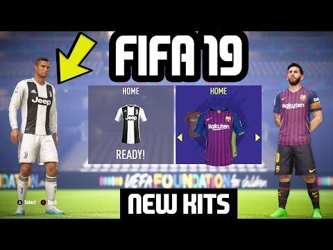 FIFA 19 NEW KITS Ft. Barcelona, Real Madrid, Juventus, Arsenal etc