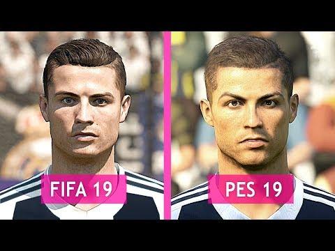 FIFA 19 Vs PES 19: Juventus Faces Comparison