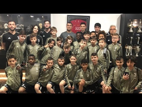 Cristiano Ronaldo Jr and Juve Under 9 team visit museum CR7 Funchal