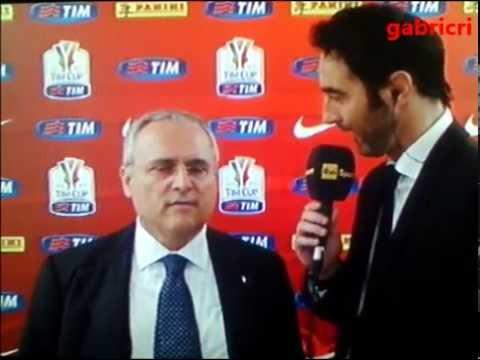 Juventus Lazio 2 1 – Lotito si incazza con il giornalista – Coppa Italia