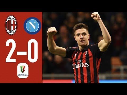 Highlights AC Milan 2-0 Napoli – Coppa Italia Quarterfinal 2018/19