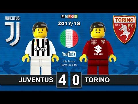 Juventus Torino 4-0 • Derby Serie A (23/09/2017) highlights sintesi Juve Toro Lego Calcio 2017/18