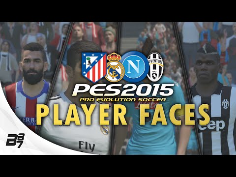 PES 2015 – Player Faces (Real Madrid, Napoli, Juventus, Atletico Madrid)