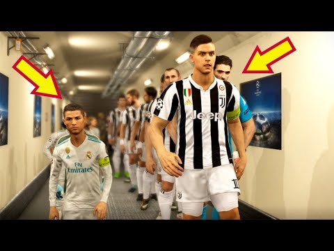 PES 2018 | JUVENTUS (Giant Players) VS REAL MADRID (Tiny Players) | UEFA Champions League