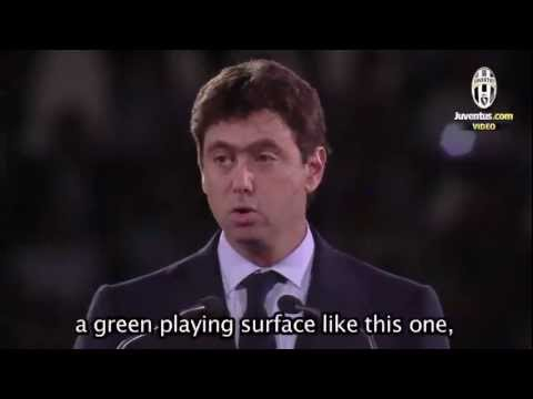 The words of President Andrea Agnelli from the Juventus Stadium opening ceremony