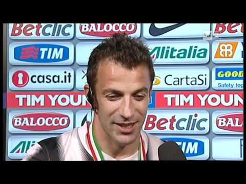 """Del Piero, ultima intervista con la """"maglia"""" della Juventus."""
