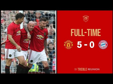 Manchester United vs Bayern Munich Legends Highlights (HD)