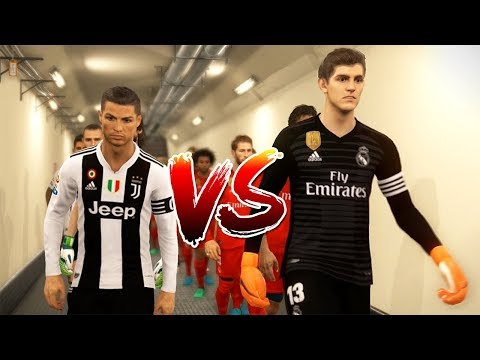 PES 2018 | RONALDO VS T. COURTOIS | Juventus VS Real Madrid | Gameplay PC