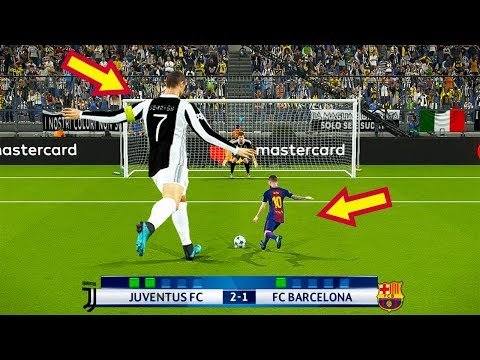 PES 2018 | JUVENTUS (Giant Players) VS BARCELONA (Tiny Players) | Penalty Shootout