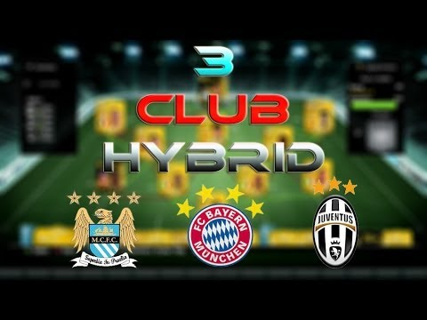 3 CLUB HYBRID FT BAYERN MUNICH MAN CITY AND JUVENTUS SQUAD BUILDER #4 FIFA 14 ULTIMATE TEAM