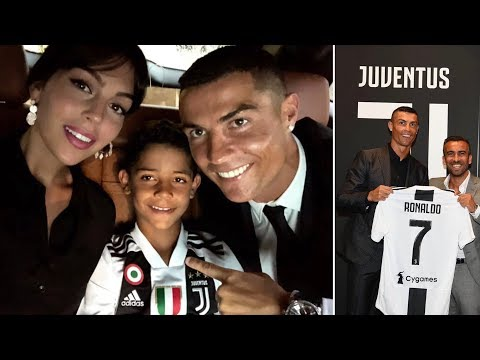 Cristiano Ronaldo and CR7 Jr first time in t-shirts of Juventus