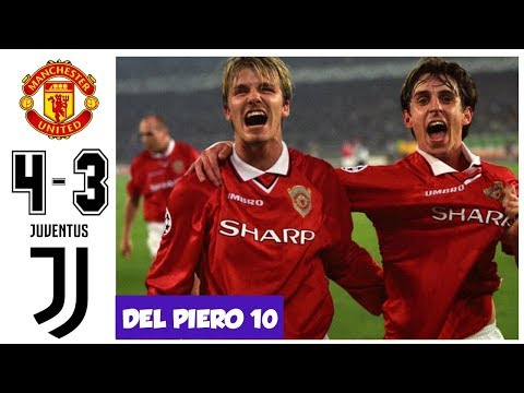 Manchester United vs Juventus 4-3, All Goals and Highlights UCL Semifinal 1999