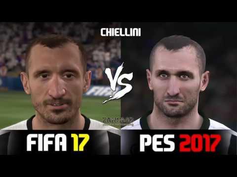 FIFA 17 vs PES 2017 Juventus Players Faces Comparison  HD