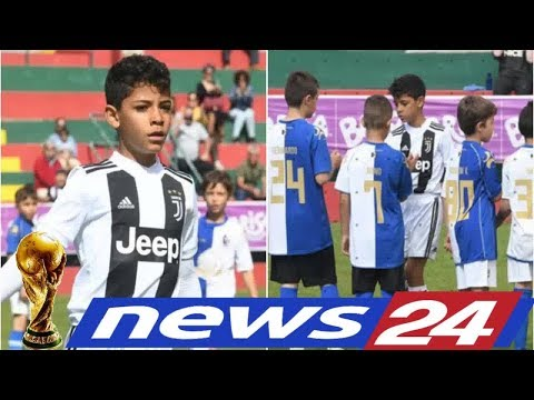 News24 –  Cristiano Ronaldo Jr. scored 7 goals in one game for Juventus' Under-9s