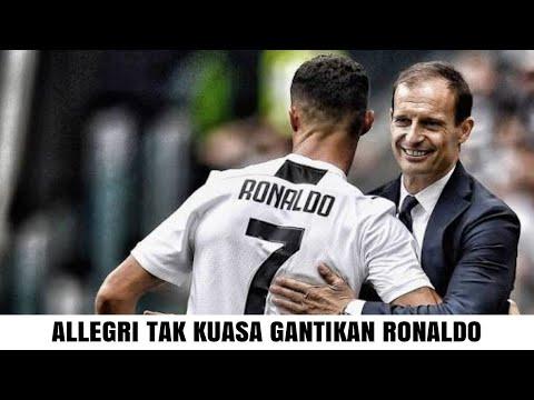 Ternyata pelatih Juventus, Massimiliano Allegri tak kuasa untuk tarik keluar Cristiano Ronaldo
