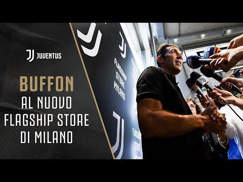 Gianluigi Buffon at the new Juventus Flagship Store in Milan
