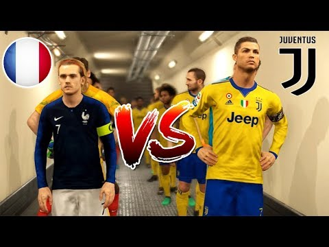 PES 2018 | JUVENTUS VS FRANCE | Full Match and Amazing Goals | Gameplay PC