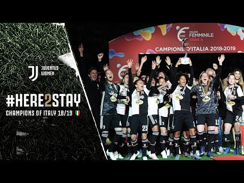 #HERE2STAY | Juventus Women awarded 2018/19 Scudetto at Allianz Stadium