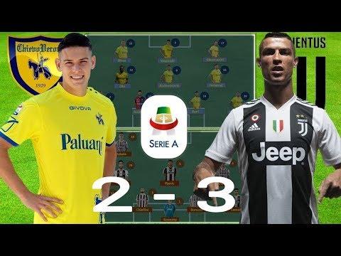 Serie A Juventus vs Chievo《 Ronaldo Tịt Ngòi Nhưng Vẫn Xuất Sắc 》
